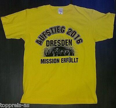 Gut Ausgebildete Dresden Aufsteiger Bundesliga Aufstieg 2016 T-shirt Baumwolle S M L Xl Xxl Xxxl
