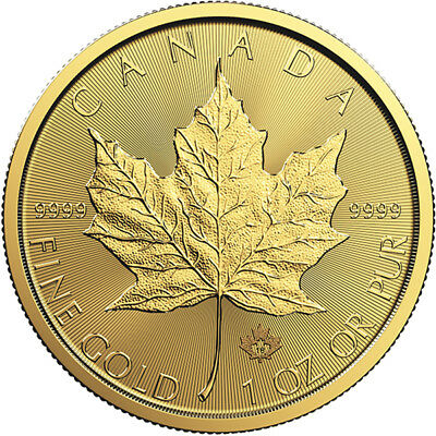 1 oz Gold Maple Leaf Coin RCM - 2018 - Royal Canadian Mint