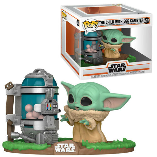 Funko POP THE CHILD BABY YODA WITH EGG CANISTER 407 The Mandalorian Sta