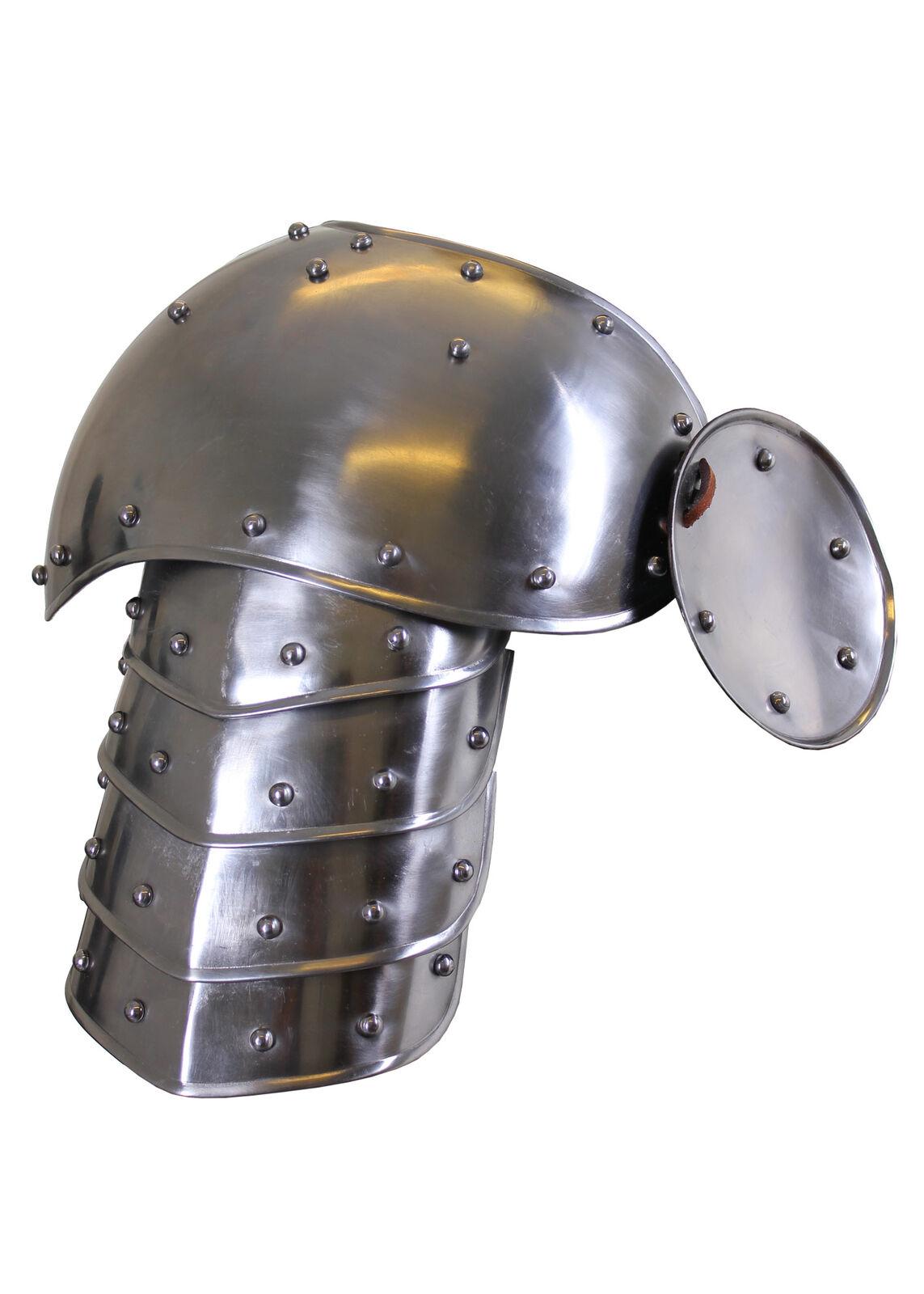 Placas De Hombro armadura medieval Warrior, Pulido, LARP SCA Disfraz Kit de engranaje