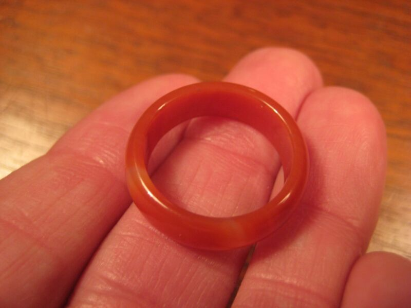 Natural Carnelian Agate Ring Thailand Jewelry Stone Art Size 7.5 Us A4024