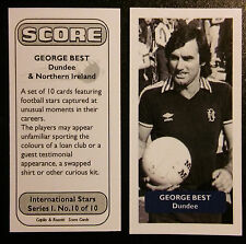 Manchester United / Dundee (!) GEORGE BEST - Score UK trade card