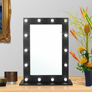 Hollywood Makeup Decorating Mirror Lighted Vanity Table Mirror With