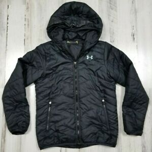 Under-Armour-Youth-ColdGear-Storm-Puffer-Jacket-Coat-Black-Loose-Size-M-b11
