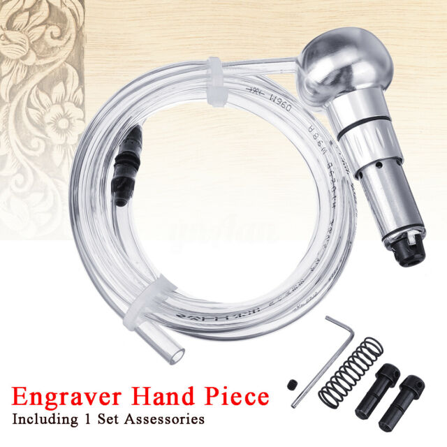 Jewelry Engraving Handpiece for Pneumatic Engraving Machine Jewelry Engraver Graver Hand Shank