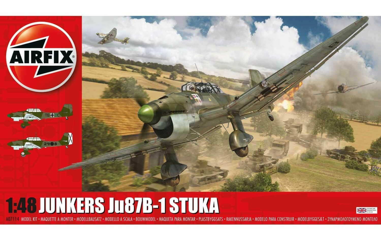 AIRFIX A07114 1 72 SCALE JUNKERS Ju87b-1 STUKA MODEL KIT NEW