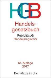 Handelsgesetzbuch (HGB) von Holger Fleischer (2016, Taschenbuch)