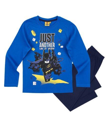 Navy Long Sleeve Pyjamas PJs Boys Kids Official Lego Batman Blue