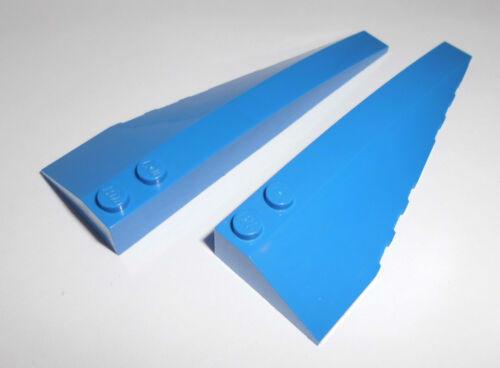 50955//50956 2 Keilsteine 10x3x1 Lego 1x R.+1x L. in blau aus 8093