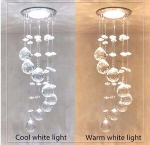 Details About Stainless Steel Crystal Chandelier Led Pendant Light Lighting Bedroom Modern Diy