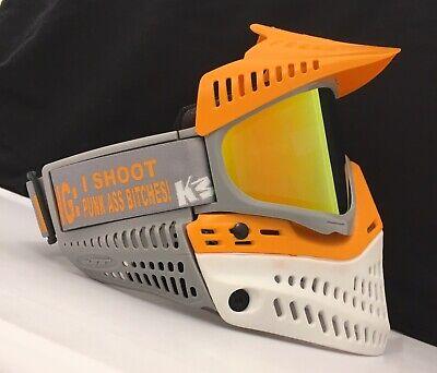 Independiente New Jt Proflex Spectra Paintball Zombie Goggle Mask Orange White Grey Thermal Completo En Especificaciones