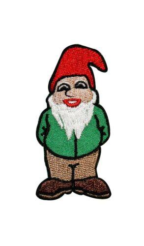 Artist ChuckWagon Gnomey McGnome Embroidered Iron On Applique Badge Patch FD