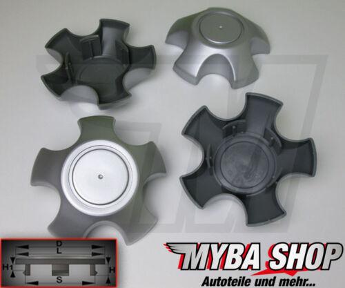 4x Tapacubos Toyota RAV4 130mm Ruedas Buje de Rueda en Gris **
