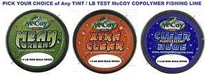 McCoy-Fishing-Line-Copolymer-Bulk-Spools-Mean-Green-Blue-or-Clear-Any-LB-Test