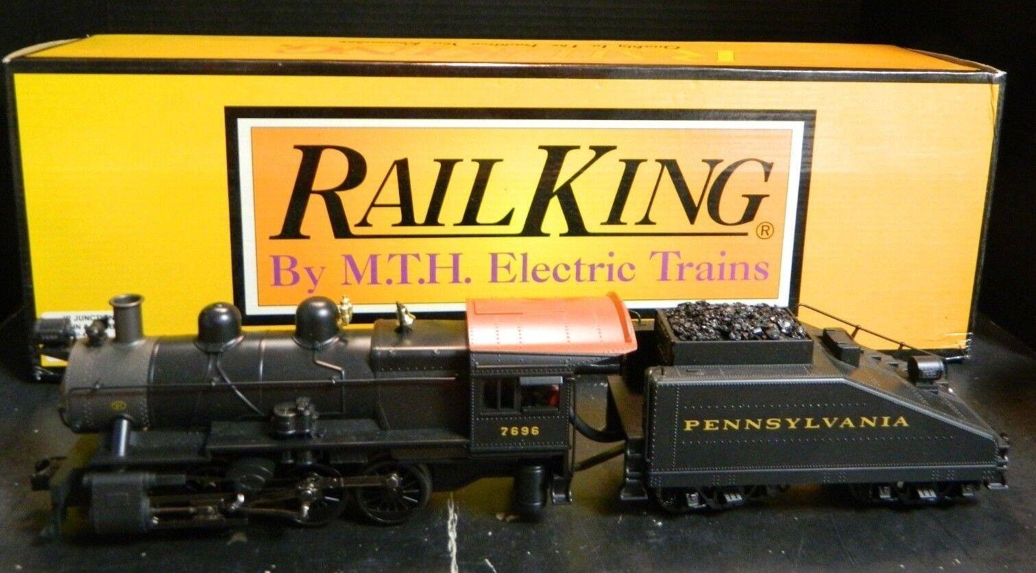 Rail King Pennsylvania 7696 Switcher Steam Engine& Tender 30-1448-1 In Orig Box