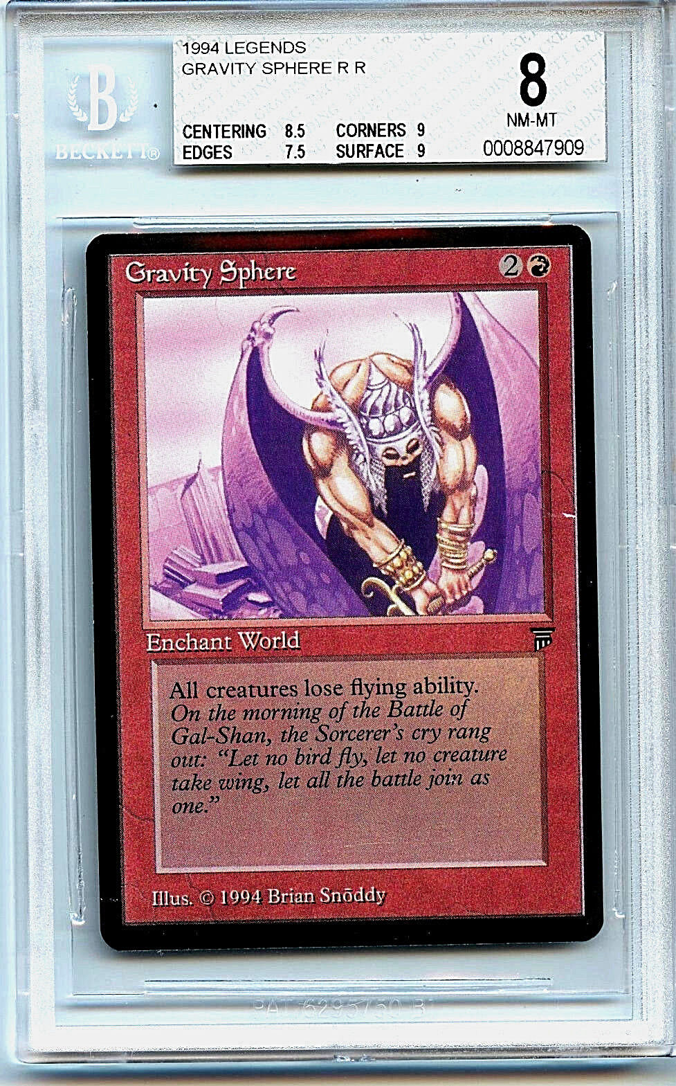 MTG Legends Gravity Sphere BGS 8.0 (8) NM-MT card Magic the Gathering WOTC 7909