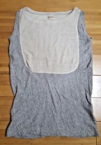 ivory Kapital Grey 0 Heather Top mouw gebreide Less tank Xs Sz wxFZq4