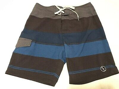 surf Trunks black/blue/gray Purposeful Euc Ezekiel Boardshorts Board Short More Discounts Surprises size Mens 32