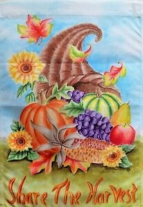 """Share the Harvest Standard Flag by Toland,  28"""" x 40"""", Thanksgiving #2371"""