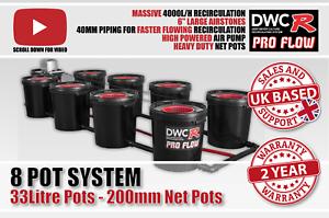 Details about 8 POT 33L RDWC PRO FLOW UNDER CURRENT RUSH Hydroponics Bubble  System iws DWC