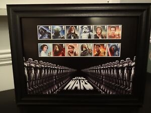 12 Star Wars Stamps By The Royal Mail Presented In A Frame Pour Convenir à La Commodité Des Gens