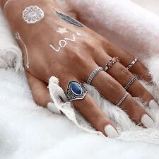 6pcs/Set Midi Ring Boho Beach Vintage Tibetan Silver Rings Women Jewelry Gift