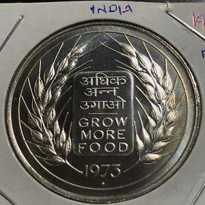 1973 l'Inde argent FAO 10 roupies preuve brillant universel Couronne