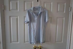 NEW-Save-Khaki-United-Extra-Large-XL-Polo-Shirt-Light-Blue-NO-BUTTONS
