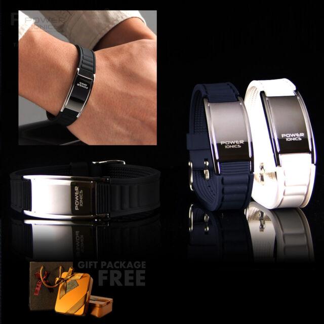 Power Ionics Titanium Magnetic 2000Ions Bracelet Energy Wristband Free Gift Pack