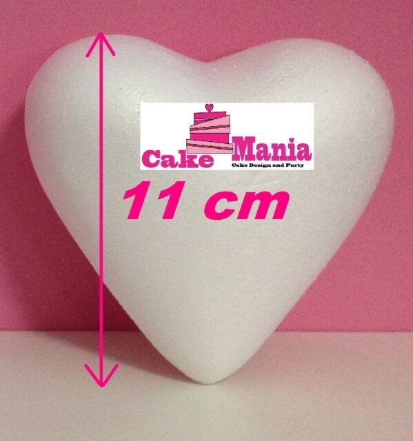 CUORE IN 3D IN POLISTIROLO PIENO DIMENSIONI 11cm15cm PER DECOUPAGE E CAKE DESIGN
