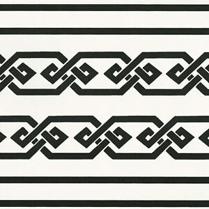 Details About Geometric Diamonds Black White Wallpaper Border Only 8 Vinyl Borders Cr