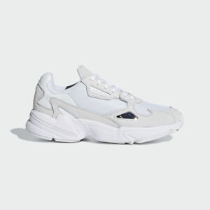 Details zu ADIDAS ORIGINALS FALCON SHOES WHITEWHITE B28128 US WOMENS SZ 5 11