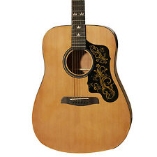Sawtooth Acoustic Dreadnought Guitar with Custom Black Pickguard & Gold Graphic