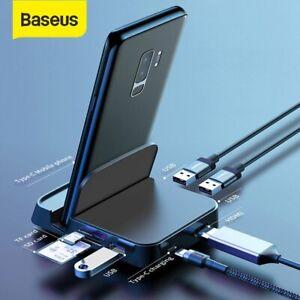 Baseus-USB-Typ-C-HUB-HDMI-Dockingstation-Handyhalter-SD-TF-Adapter-fur-Samsung