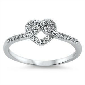STERLING-SILVER-Promise-Forever-Love-Heart-Knot-Ring-Size-4-5-6-7-8-9-J-L-N-P-R