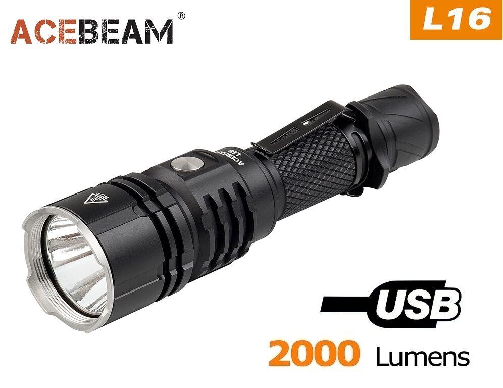 Acbeam L16 cree xhp35 hi 2000 linterna LED (sin batería)