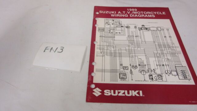 1989 Suzuki Atv  Motorcycle Models Wiring Diagrams Manual