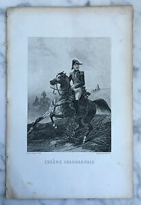Incisione Eugene Beauharnais Louis David, Pinx Henry Robinson Sc XIX