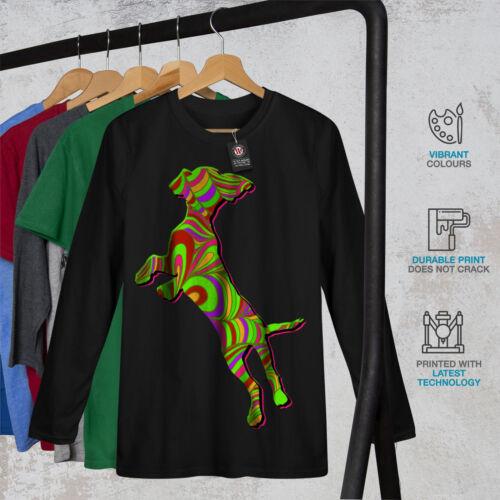 Psychedelic Dog Fashion Women Long Sleeve T-shirt NEWWellcoda