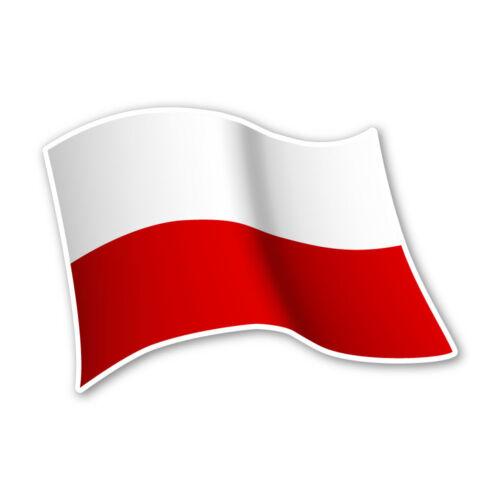 Polen Flagge Poland Autoaufkleber Sticker Fahne Aufkleber DRU 0077
