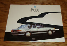 Original 1991 Volkswagen VW Fox Deluxe Sales Brochure 91