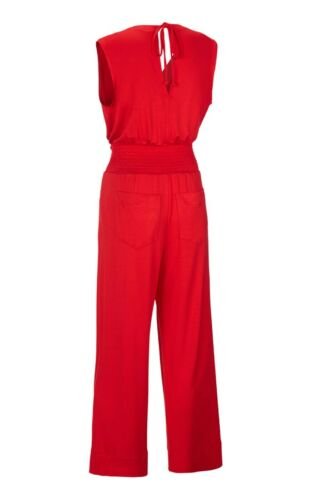 Size XL New Wide waistband Cap Sleeves Cabi 2020 Spring Uptown Jumpsuit