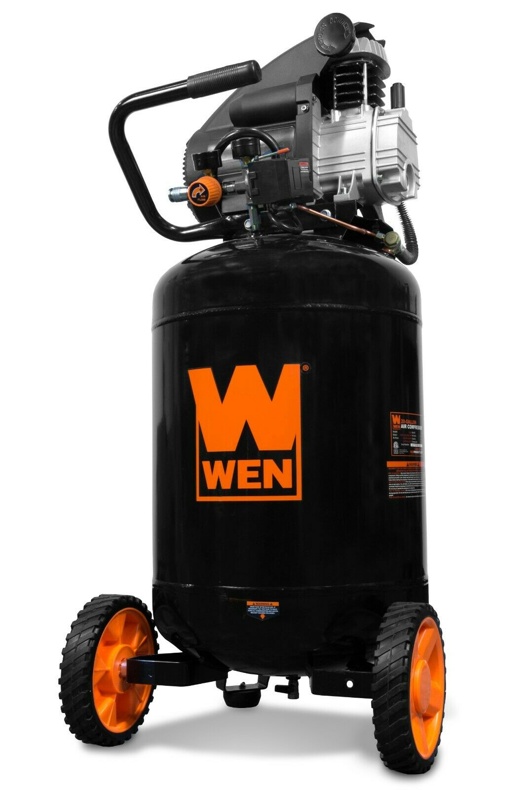 wen_products WEN 2202T 15A 20-Gallon Oil-Lubricated Portable Vertical Electric Air Compressor