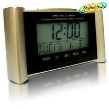 Digital Calendar Time Therm Lamp Alarm Snooze Countdown Clock Beige