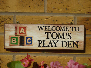 PERSONALISED-GARDEN-SIGN-CHILDS-SIGN-WELCOME-SIGN-KIDS-PLAY-DEN-LEARNING-BLOCKS