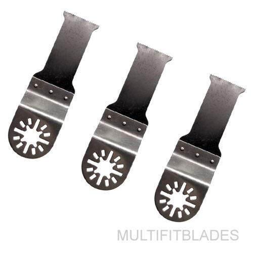 """Ryobi Job Fit 3 x 1-1//8/"""" Premium Bi-Metal Oscillating Tool Blades-Ridgid JobMax"""