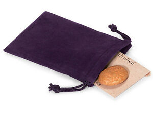 50-PURPLE-3x4-Jewelry-Pouches-Velour-Velvet-Gift-Bags