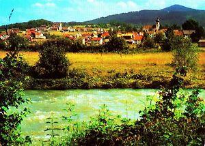 Grafenwiesen-Bayer-Wald-Ansichtskarte-1992-gelaufen