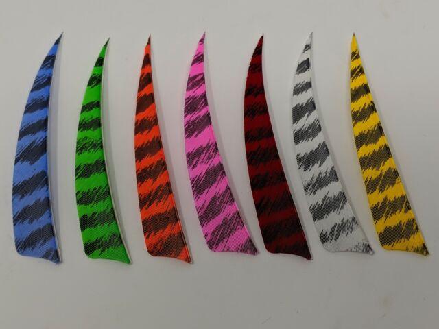 "Gateway Archery Feathers Right Wing 4/"" Parabolic Qty 12"