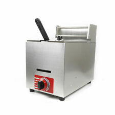 New Listing10l Deep Fryer Stainless Steel Commercial Tank Withbasket Gas Chip Fryer